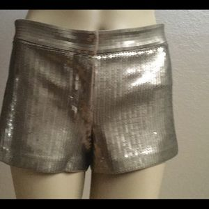 Old Gold Sequins Shorts
